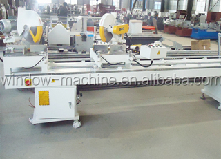 Double Head Cutting Mitre Saw Machinery For Aluminium Fabrication
