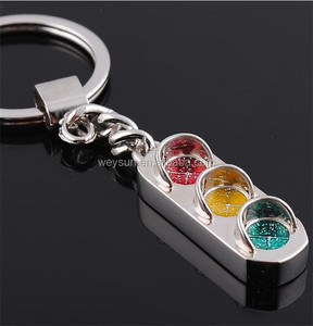 200pcs traffic signal light souvenir gift metal Keychain Key Chain, Keyring DHL Freeshipping
