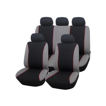 Red White Stripe Fashion Back Support Funny Car Seat Covers Set