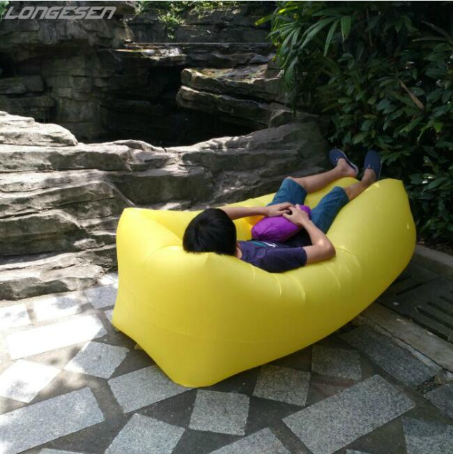 Sports & Entertainment Inventive 210d 10 Colors Fast Inflatable Air Sleeping Bag Sofa Air Bed Lazy Bag Laybag Chair Couch Lounger Hammock Nylon Banana Sofa Last Style