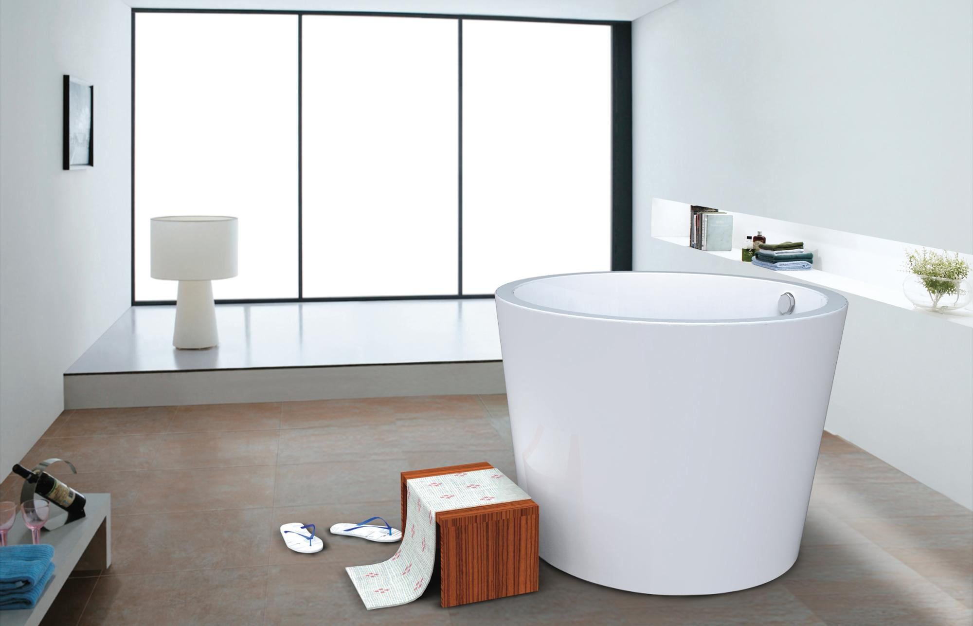 Hs-bz673 Round Deep Soaking Bathtubs,Bath Tub Acrylic,Soak Tub Deep ...