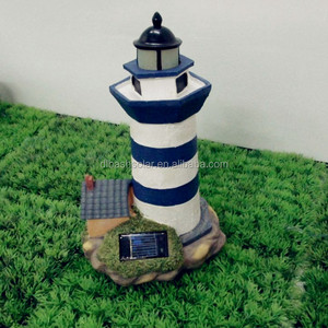 Lovely charming lighthouse lights ornament powered garden decoration yard solar lamp