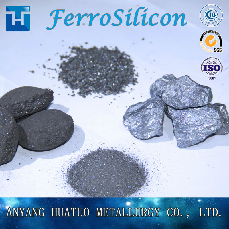 ferro Silicon Si 75% 72% Powder Briquette Low Gasification Used In Steel And Iron Industry