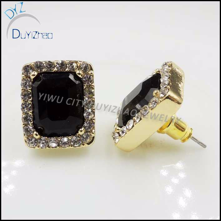 Latest Gold Single Stone Earrings Black Fashion Design Earring Designs Product On