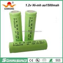 Low self discharge battery/nimh 1.2v rechargeable batteries aa size1500mah battery