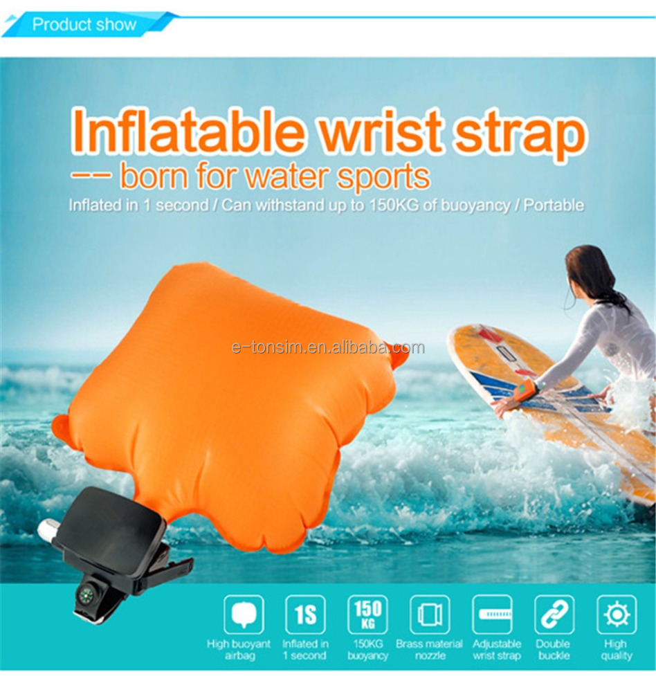 new product water sports swimming inflatable lifesaving wrist strap anti drowning wristband self rescue bracelet