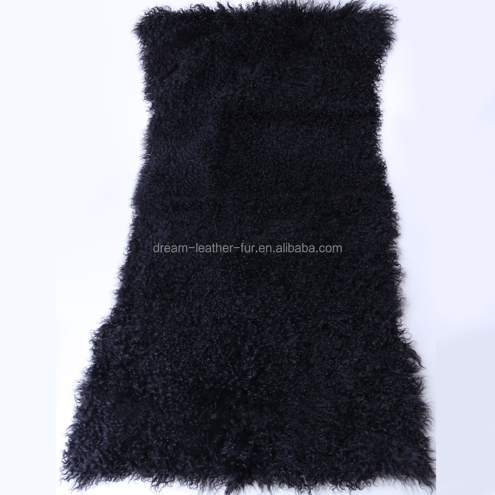 genuine wholesale mongolian sheep fur lamb fur plate from China