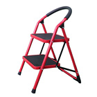 Hot sale 2 step steel stool warehouse foldable step ladder