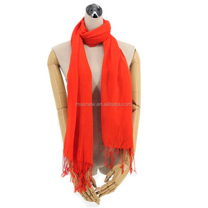 cheap factory hot sale solid basic viscose pashmina scarf, promotion solid lady viscose shawl