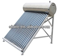Integrative Pressurized Stainless Steel Solar Water Heater with Fittings of Electrical Heater, Intelligent Controller& P/T Valve