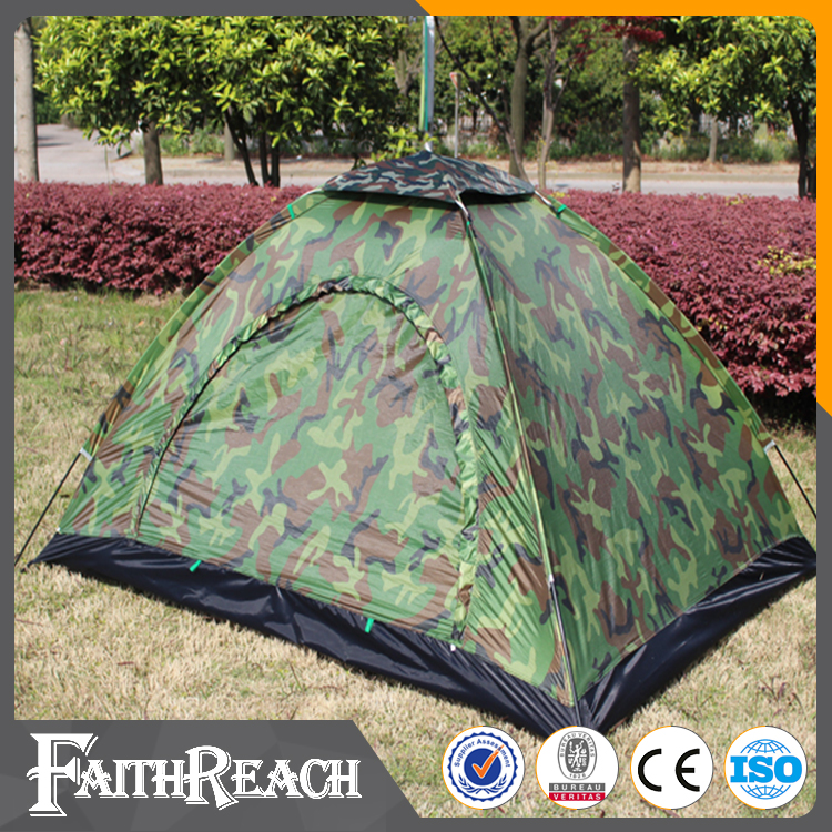 Wholesale camping and hiking gear camouflage 2 person inflatable cube camping tent