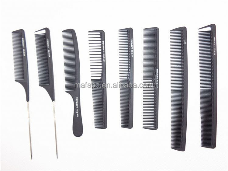 Professional barber combs eyebrow comb