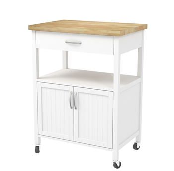 Enjoyable Modern White Wooden Kitchen Furniture Trolley With Rubber Wood Top Homebase View Wooden Kitchen Trolley Jenwood Product Details From Fuzhou Riches Complete Home Design Collection Barbaintelli Responsecom