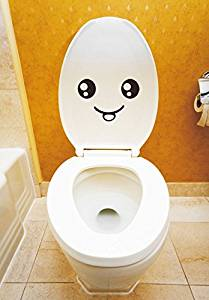 Wyhui Smiley Face Toilet Wall Sticker Decal Mural Art Decor Funny Car Bathroom Gift