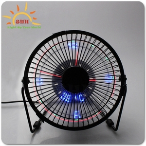 Hot product Desktop USB LED Clock &Temperature fan, Electric air cooler fan with real time & temperature & Led light