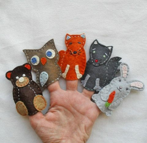 hot selling handmade lovely felt finger puppets