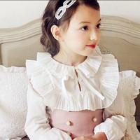 Free Shipping Buying Clothing China Show Ruffle Girls Fashion Shirt