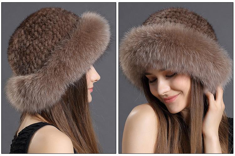 99b50fc618cfa New Design Winter Hat Mink Fur Knitting Women Hat Fox Fur Hat - Buy ...
