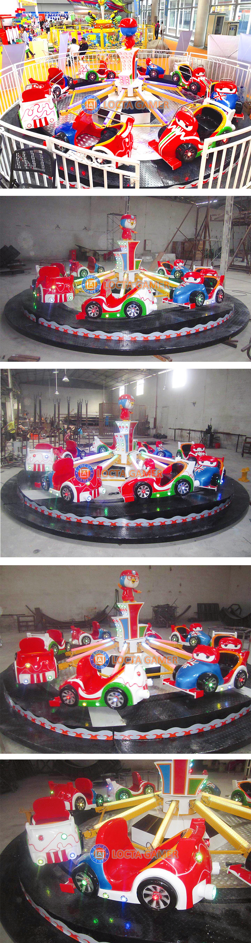 Zhongshan amusement park equipment rides convoy car ride for kid flying car game climbing train up and down