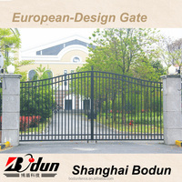 Iron pipe grill designs mesh fence steel tubular gate