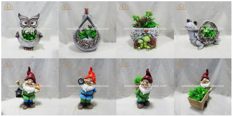 Wholesale garden gnome Magnesia dwarf statue with a lantern in hand .png