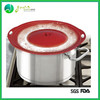 BPA Free 100% FDA eco-friendly Silicone Boil Over Lid Pot Lid