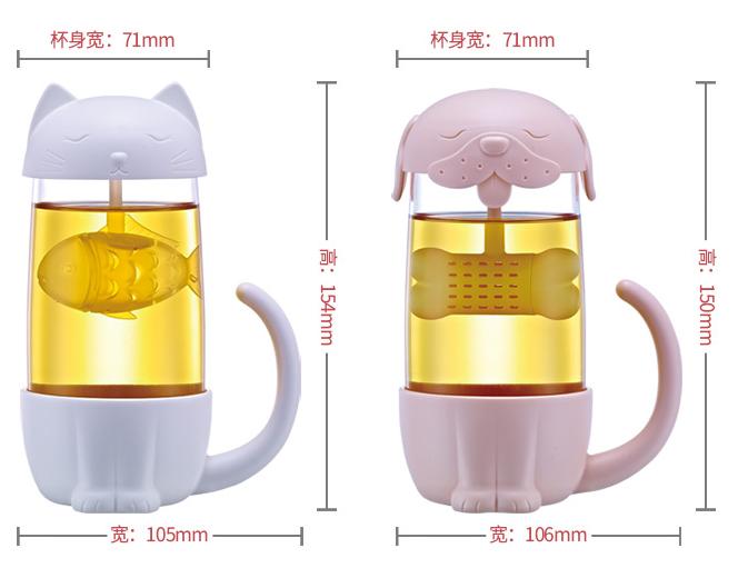D826 2018 Nouveau Dessin Animé Tasse à Thé Avec Filtre En Verre Drinkware Créatif Ustensiles De Cuisine Buy 2018 Nouvelle Tasse à Thé De Dessin
