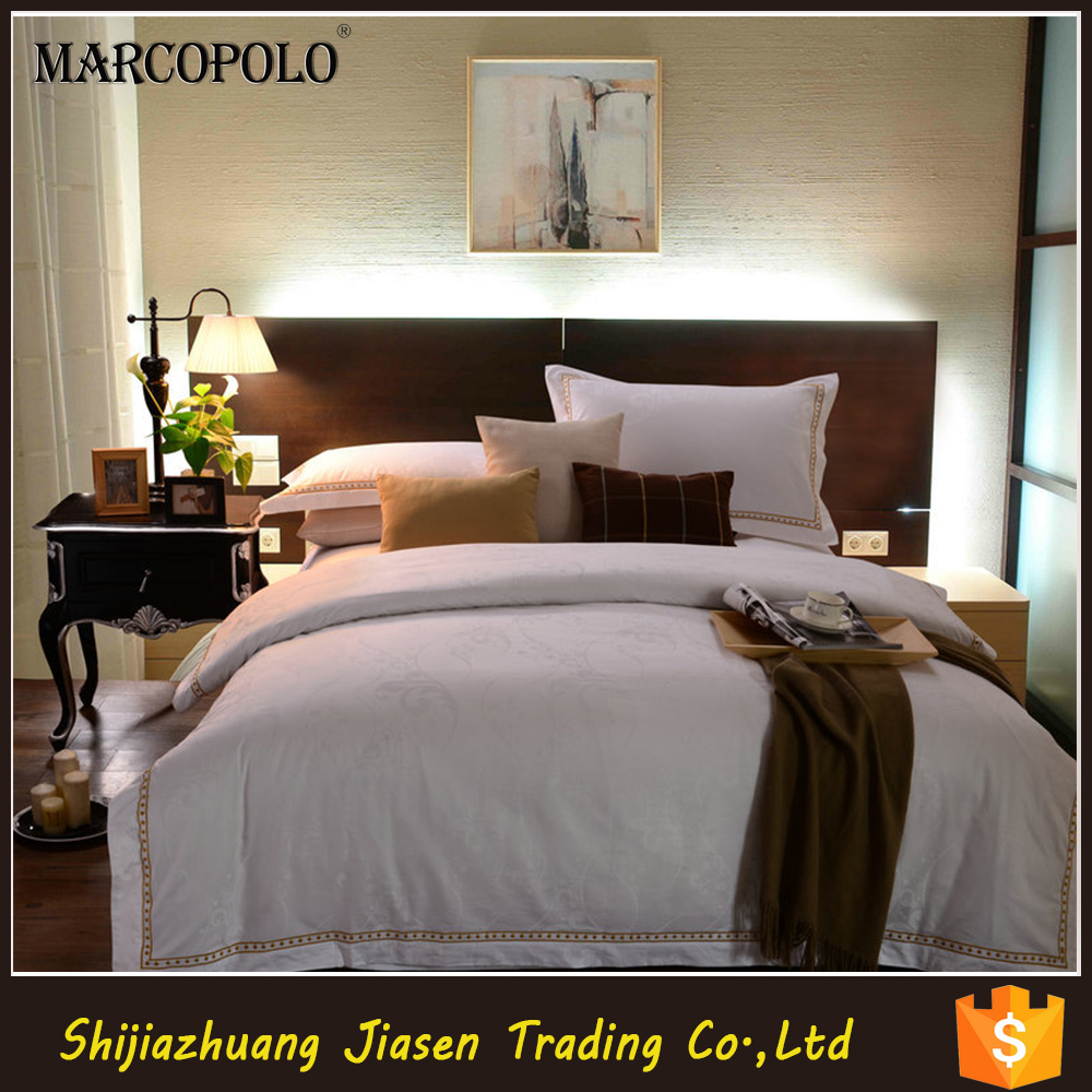 Jacquard Cotton Hotel Bed sheet /Bed Runner Bed Linen for adult
