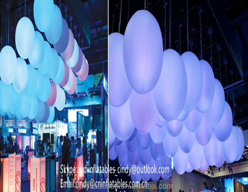 Inflatable Projection Sphere Decoration Helium Balloon Lighting For Party High Quality