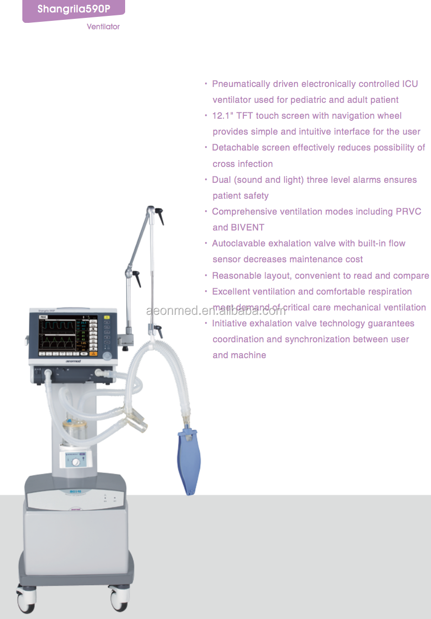 CE marked transport and ICU treatment anaesthesia ventilator