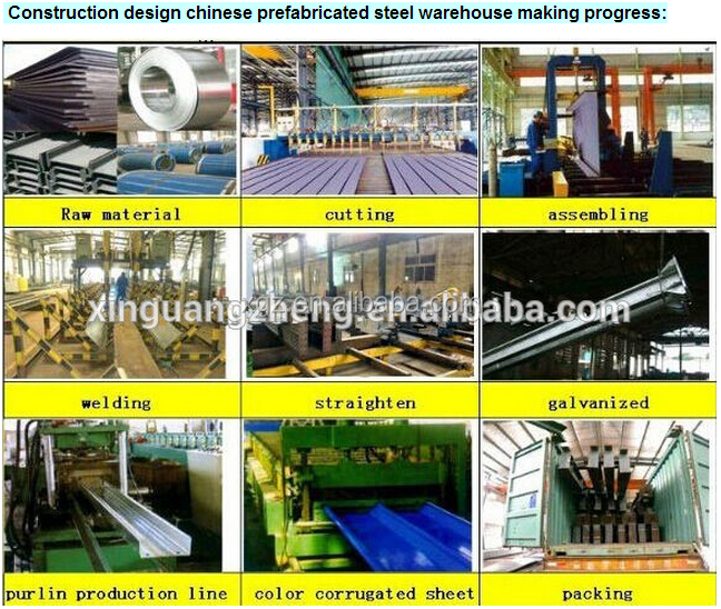 large scale prefabricated design steel structure workshop building