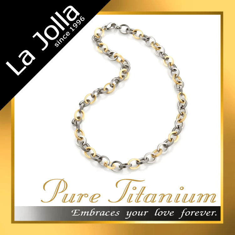 18K Gold Charming Silver Chain Pure Titanium Jewelery Necklace