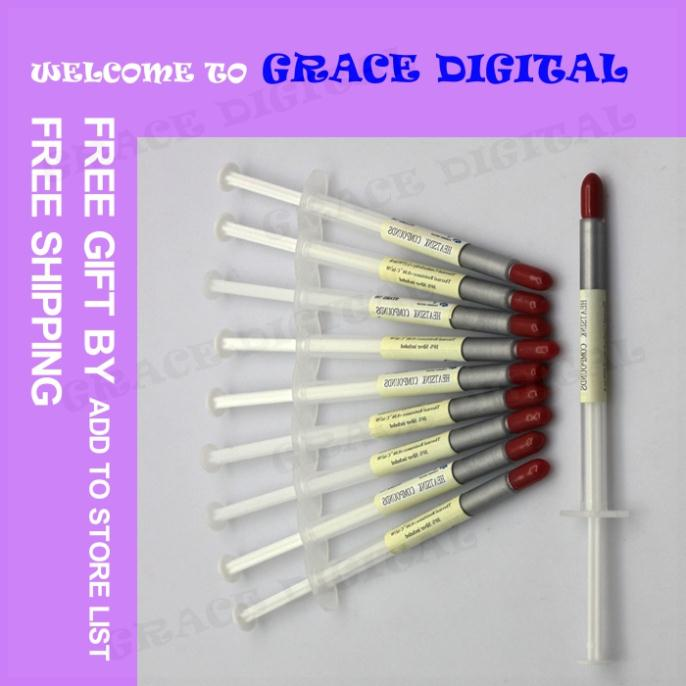 2016 New Welcoming 10pcs lot Free Shipping Silver Syringe Silicone Thermal Grease Heatsink Compound Paste For