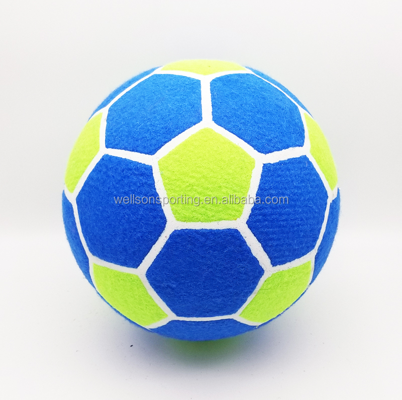Customized Design 8 Inches Eco Friendly Hot Sales Promotional Big Tennis Ball with Soccer Ball Shape