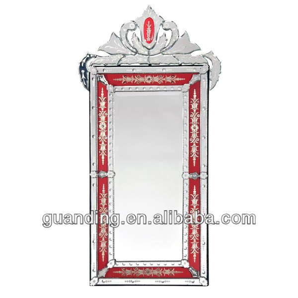 Venetian Mirror With Crown And Etching Red Buy Antique Venetian Mirrors Venetian Glass Mirrors Venetian Style Mirror Product On Alibaba Com