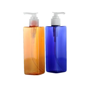 250ml Pet Plastic Rectangle Pump Lotion Bottle Dispenser