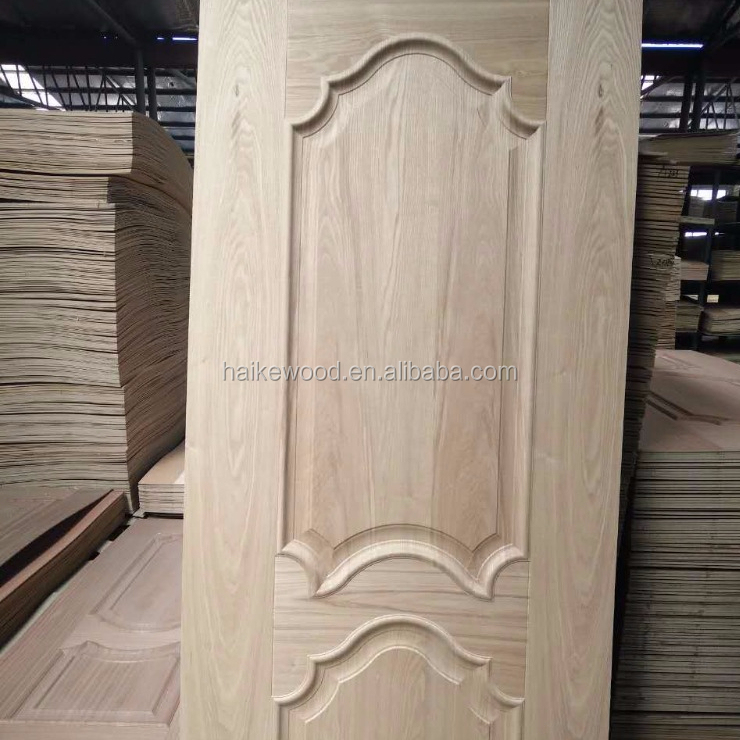 HDF/MDF or plywood moulded veneer door skin by ash/teak/sapeli/oak