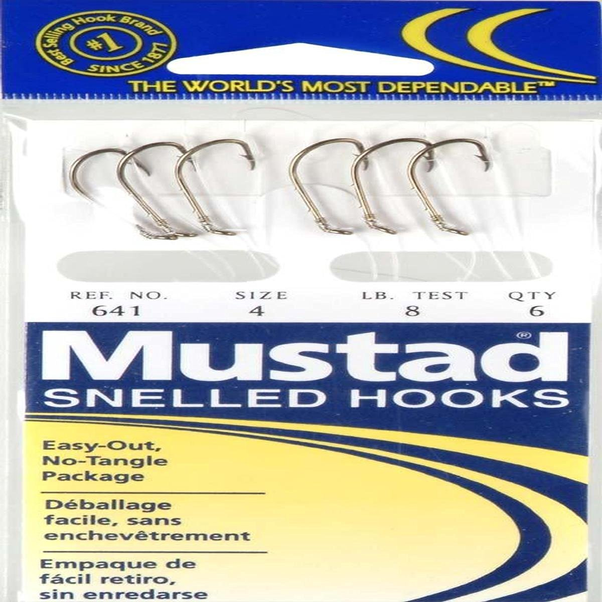 Maurice Sporting Goods 641-4-41 Snelled Hook, Size 4, 6-Pk.