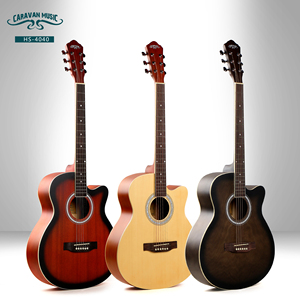 Acoustic guitars from china factory 41inch guitar music instrument brand CARAVAN for wholesale cutaway