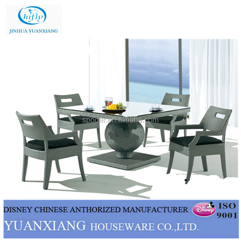 YuXiang rustic outdoor dining sets furniture