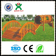 Children outdoor playground wooden arch bridge the drill hole for hot sale (QX - 078G)