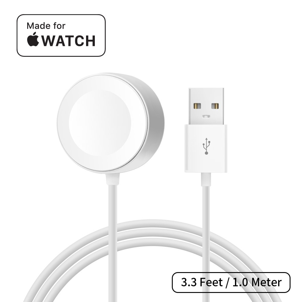 [ Apple MFi Certified ] Apple Watch Charger, MPIO iWatch Magnetic Charging Cable for iWatch 38mm 42mm, Apple Watch Series 1/2/3 (3.3 Feet / 1.0 Meter)