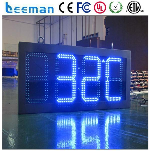 led digital clock white display 10 inch 7 segment led for gas price ws2811 led digital strip