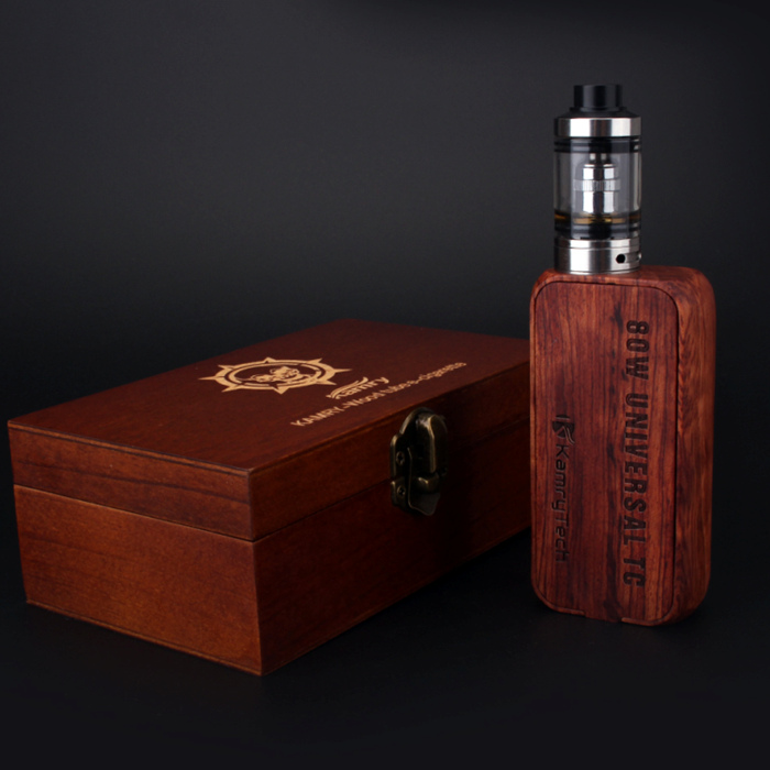 Popular wood mech mod Kamry 80W TC box mod with wood packing case