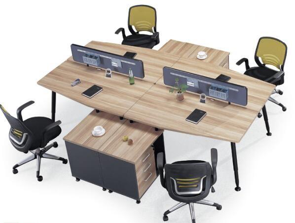 Moderne hout mensen kantoor workstation kantoormeubilair bureau