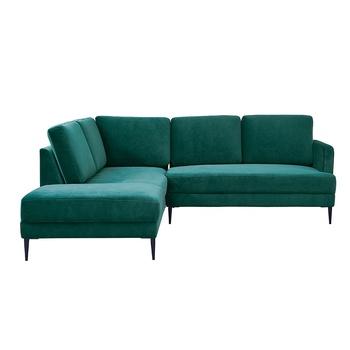 Metal Legs Living Room Green Velvet