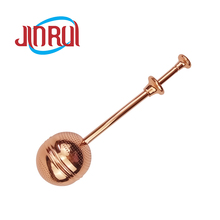 Rose Gold Plated 볼 <span class=keywords><strong>모양의</strong></span> Stainless Steel 주입기 <span class=keywords><strong>차</strong></span> 와 개폐식 긴 handle