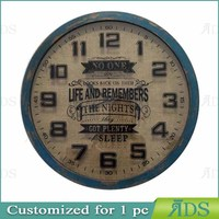 big bycycle vintage clock metal wall decorative