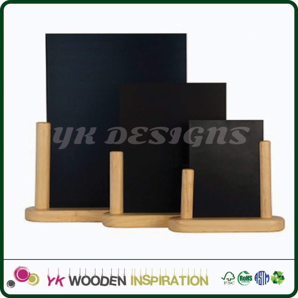 Menu wooden holder for Two-sided Decorative Chalkboard