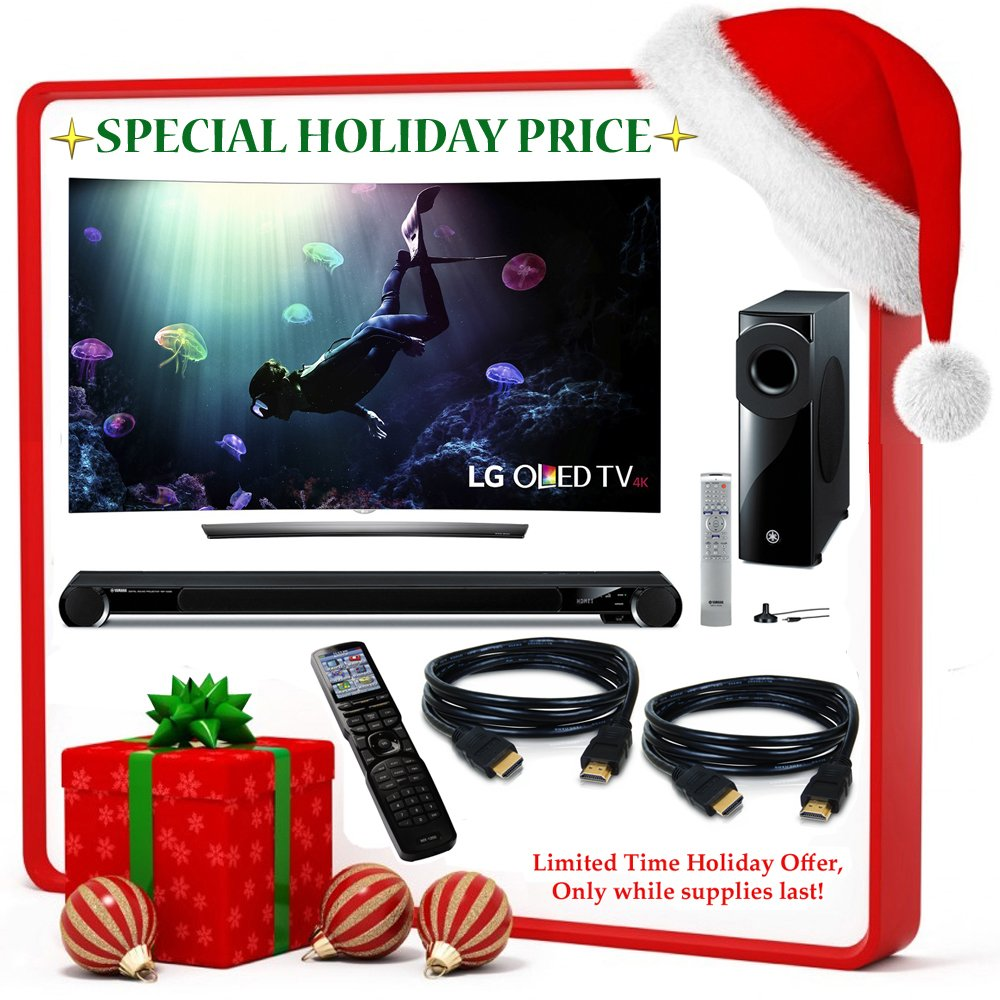 """Black Friday Deal Brand New! LG C6 Curved OLED 4K HDR Smart TV - 55"""" Class + 2 Bonus HDMI Cables!"""